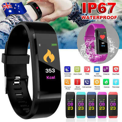 Smart Watch Pedometer Fitness Activity Tracker Waterproof  Heart Rate Monitor