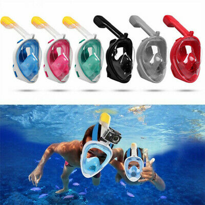 Full Face Snorkel Mask Scuba Diving Swimming Goggle Surface Snorkeling For GoPro