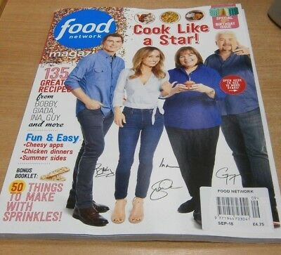 Food Network magazine SEP 2018: 135 Recipes, 10th Birthday Issue, Sprinkles