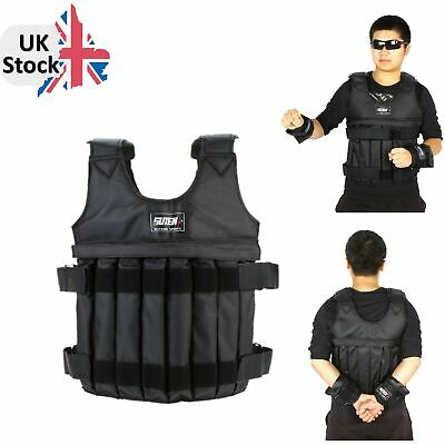 Max Loading 20kg Adjustable Weighted Vest Weight Jacket Exercise Boxing B7T8