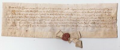 NORFOLK.  Stanhoe land deed from the reign of King Richard II 1377