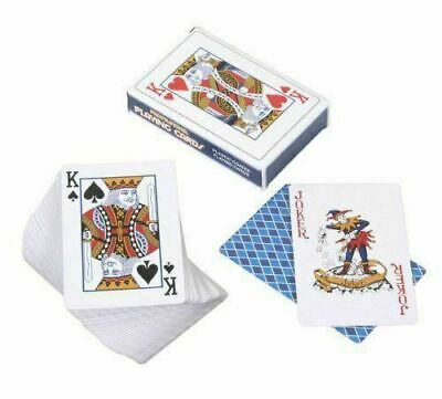 1x 2x Plastic Coated Playing Cards Traditional Classic Deck Poker Family Game