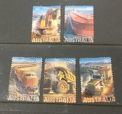 Australian 2008 Heavy haulers Australia set of 5 S/A stamps used