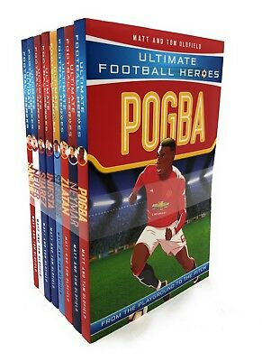 Ultimate Football Heroes Series 2 Collection 8 Books Set Pack Pogba, Neymar ...