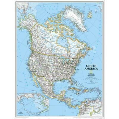 National Geographic RE00620149 Map Of North America - Enlarged And Laminated