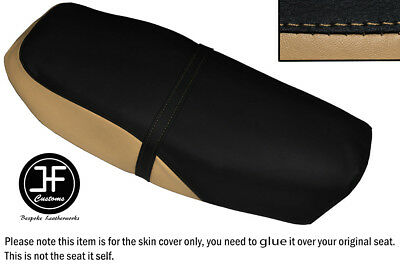 Black And Beige Vinyl Custom Fits Yamaha Rsx 100 86-92 Dual Seat Cover Only