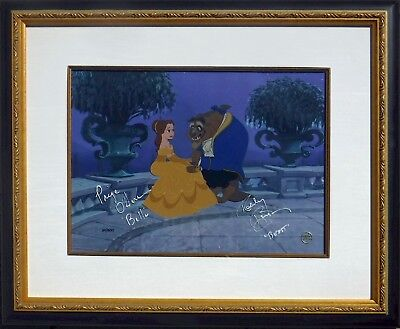 Disney BEAUTY and THE BEAST Cel Double Signed Rare signatures limited edition