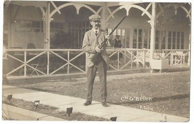 Cte or Cre O'Brien, Gentleman with Rifle, RP Postcard Postally Used 1913