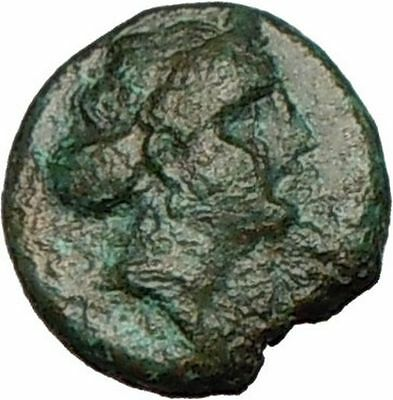GREEK City 250BC Ancient Greek Coin APOLLO Eagle on Thunderbolt  i24929