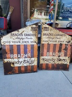 Vintage Brach's Candy Grocery Store Display sign