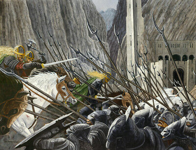 The Battle Of Helms Deep Lord Of The Rings Art Print