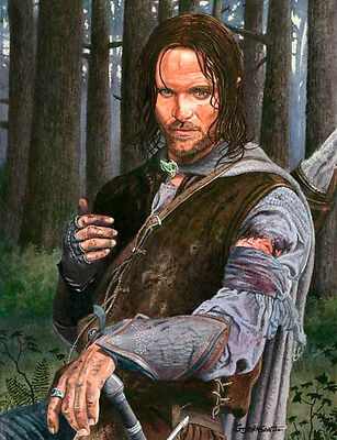 Aragorn Lord Of The Rings Art Print