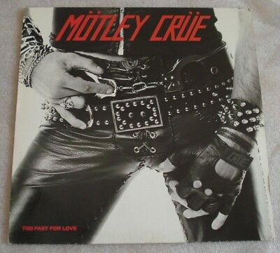 Mötley Crüe LP Too Fast For Love