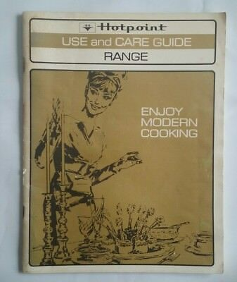 HOTPOINT RANGE OVEN ~ VINTAGE 1960s USE & CARE GUIDE MANUAL ~ MODEL RHV787
