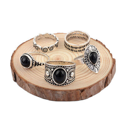 5Pcs Retro Ladies Knuckle Rings Hippie Tail Ring Midi Joint Ring Women Gift CB