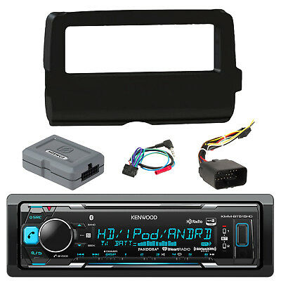 Kenwood HD USB Bluetooth Radio, Harley 2014 UP FLHTC Touring Install Adapter Kit
