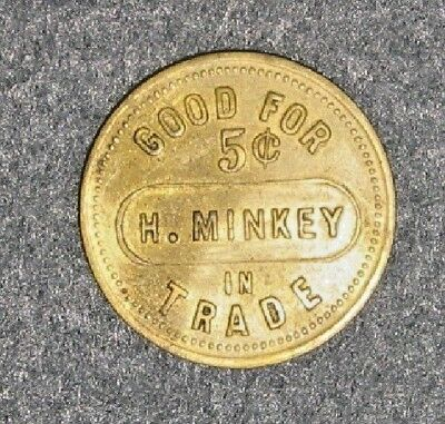 H. Minkey BBC Token Good For 5 Cents