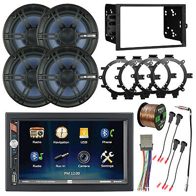 """CD Player Double DIN Bluetooth Receiver, 6.5"""" Coaxial Speakers, Accessories"""