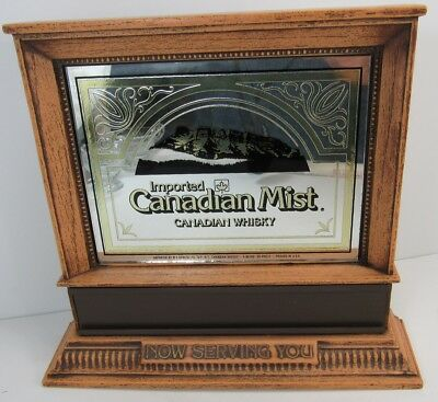 Vintage Canadian Mist Whisky Small Mirror Bar Display Or Wall Hanger -G4