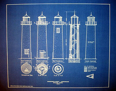 "Lighthouse at Minnesota Point 1854 Blueprint Plans 16"" x 20"" (249)"
