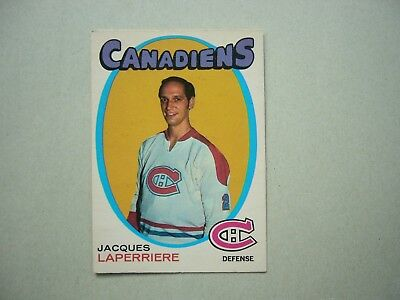 1971/72 O-Pee-Chee Nhl Hockey Card #144 Jacques Laperriere Ex/Nm Sharp!! Opc