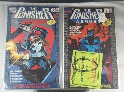 The Punisher Armory comics  Marvel Jim Lee autograph 1 2 3