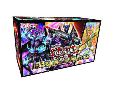 Yu-Gi-Oh Trading Card Game Legendary Hero Decks Box Set New/Sealed