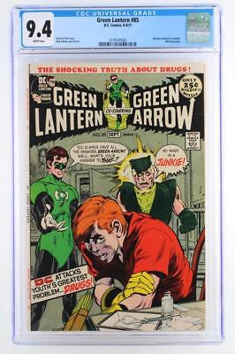 Green Lantern #85 -NEAR MINT- CGC 9.4 NM - DC 1971 - Speedy Anti-Drug story!!!
