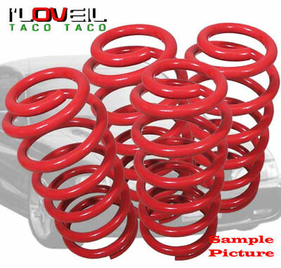 "1992-1996 Honda Prelude Jdm 2.25"" Drop Suspension Lowering Spring Lower Kit Red"