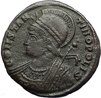 CONSTANTINE I the GREAT Founds Constantinople 334AD Ancient Roman Coin i71232