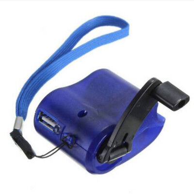 Emergency Power 3 Colors USB Hand Crank SOS Phone Charger Camping Survival