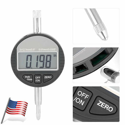 "0.01mm/.0005"" Range 0-25.4mm/1"" Gauge Digital Dial indicator Precision Tool US"