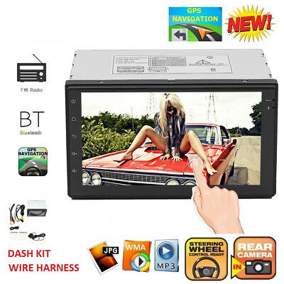 """7"""" 2 DIN Android 6.0 WiFi Car GPS Bluetooth Stereo Radio MP5 FM DVD Player Touch"""