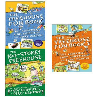 Treehouse Fun Books Series by Andy Griffiths 3 Books Collection Set 104 Storey