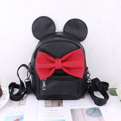 1c097b1d60f Kid Girl Backpack Minnie Mouse Cartoon School Mini Travel Bag PU Leather  Satchel