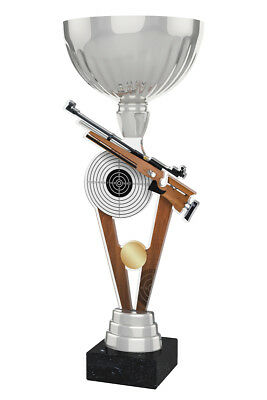RIFLE SHOOTING METAL ACRYLIC TROPHY CUP SILVER OR GOLD *FREE ENGRAVING* 330mm