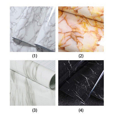PVC Marble Effect Contact Paper Film Self Adhesive Peel-stick Wall Covering