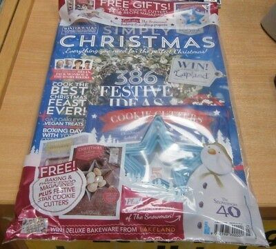 Simply Christmas magazine 2018 + 5 Star shape cookie cutters & Baking magazine