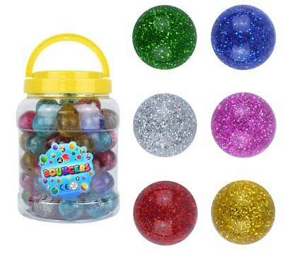 33mm Sparky Bouncy Large Jet Balls Glitter Bouncers Kids Party Bag Filler Toys