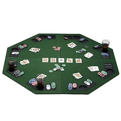 """eSecure 1.2m/48"""" Poker Table Top 8 Players With Poker Chip Trays & Drink Holders"""