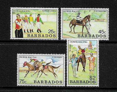 Barbados #773-6 Mint Never Hinged Set - Horse Racing