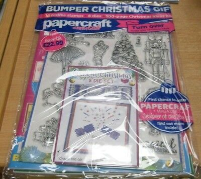 Papercraft Essentials magazine #164 2018 + Crackin' Christmas 8 Die Set & more