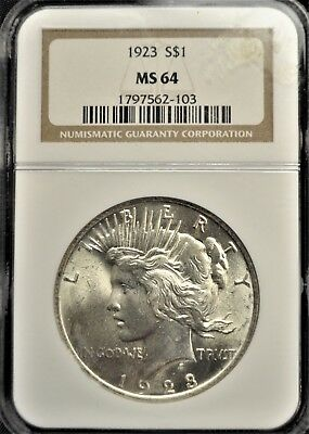 1923 United States One Dollar NGC graded MS-64