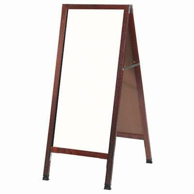 Aarco Products MA-35 Cherry Frame White Markerboard A-Frame Sidewalk Board