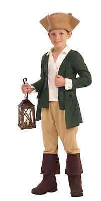 Child Boys Revolutionary War Patriot Paul Revere Colonial Historical Costume