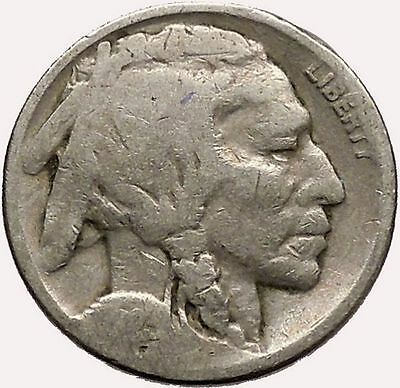 1923 BUFFALO NICKEL 5 Cents of United States of America USA Antique Coin i43591