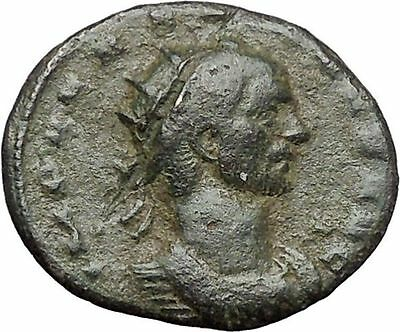 AURELIAN  receiving Victory from Roma 270AD Rare Ancient Roman Coin  i48040