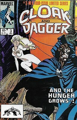 Cloak And Dagger Comic Issue 3 Bronze Age Limited Series First Print Mantlo 1983