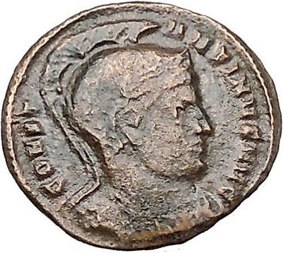 CONSTANTINE I the GREAT Authentic  Ancient Roman Coin Vexillum - flag  i41212