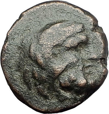THASOS THRACE Island 250BC RARE R1 Authentic Ancient Greek Coin HERCULES i61560